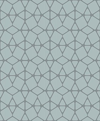 Facet Wallpaper - Mint/Silver