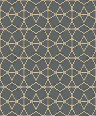 Facet Wallpaper - Black/Gold