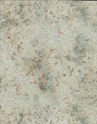 Mineral Deposit Wallpaper - Rust/Teal