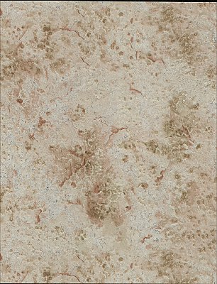 Mineral Deposit Wallpaper - Red/Olive