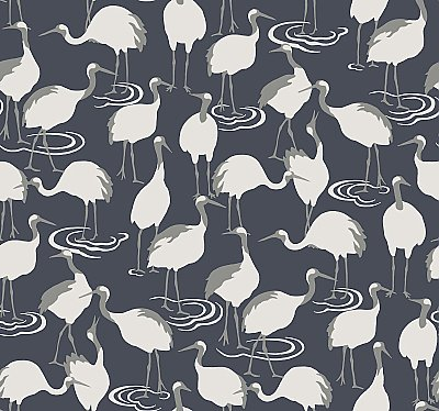Winter Cranes Wallpaper