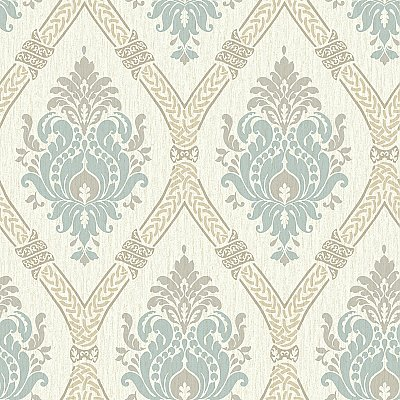 Dressed Up Damask Wallpaper