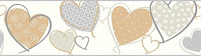 Heart Removable Wallpaper Border