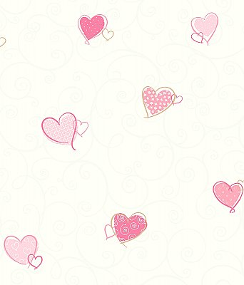 Colorful Hearts Removable Wallpaper