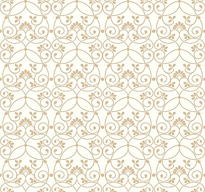 Glitter Scroll Removable Wallpaper