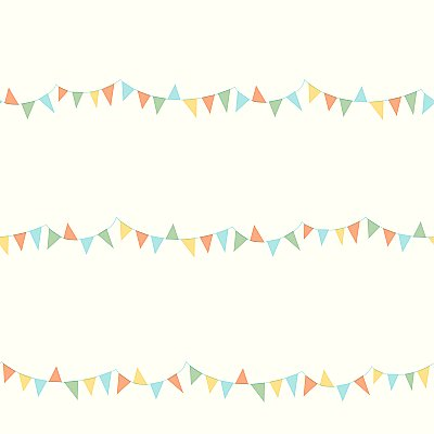 Big Top Pennants Removable Wallpaper