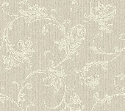 Burlap Textured Scroll  Wallpaper