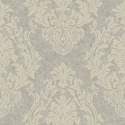 Distressed Damask Spot  Wallpaper