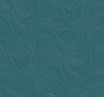 Great Wave Wallpaper - Teal