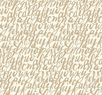 Chateau Wallpaper - Gold/White