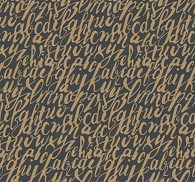 Chateau Wallpaper - Gold/Black