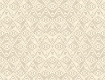 Concentric Wallpaper - Beige W/Iridescent