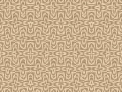 Concentric Wallpaper - Gold W/Iridescent