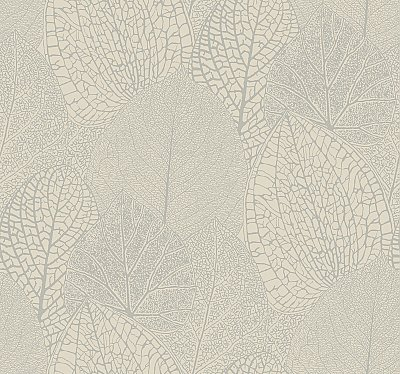 Seasons Wallpaper - Taupe W/Iridescent