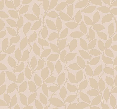 Leaf and Vine Wallpaper - Blush