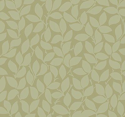 Leaf and Vine Wallpaper - Sage