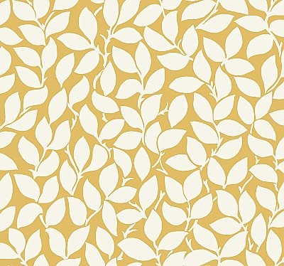Leaf and Vine Wallpaper - Citrine