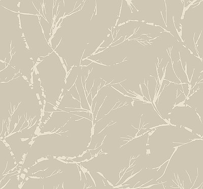 White Pine Wallpaper - Pewter