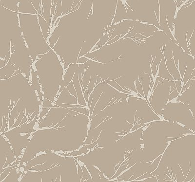 White Pine Wallpaper - Light Brown
