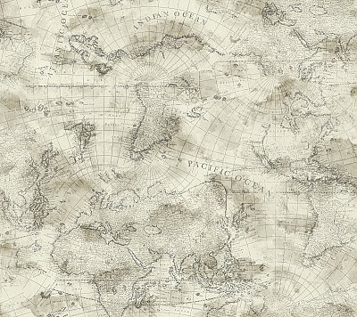 Coastal Map Wallpaper