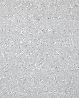 Flared Scroll Paintable Wallpaper