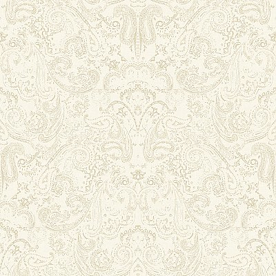 Distressed Paisley Wallpaper
