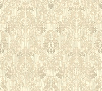 Framed Ombre Damask Wallpaper