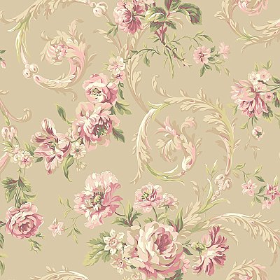 Rococco Floral Wallpaper