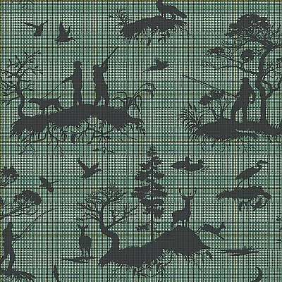Outdoorsmen Toile Wallpaper