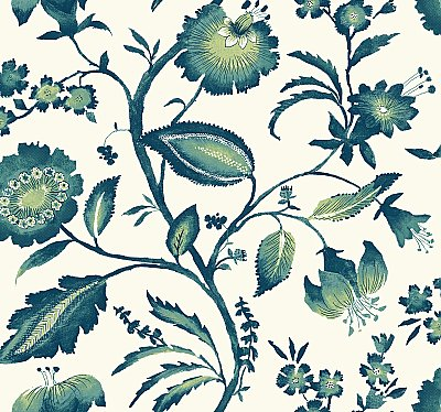 Watercolor Jacobean Wallpaper