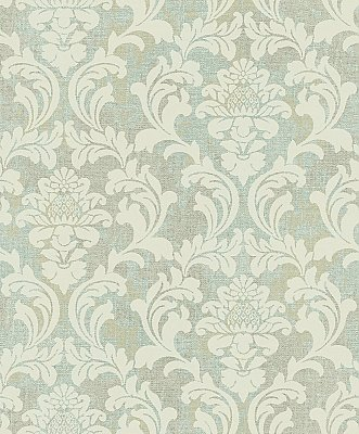 Linen Damask Wallpaper