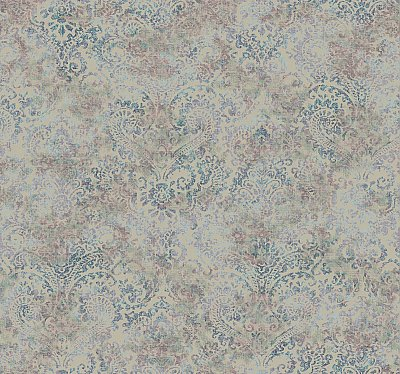 Distressed Damask Wallpaper