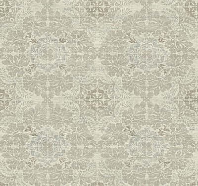 Linen Medallion Wallpaper