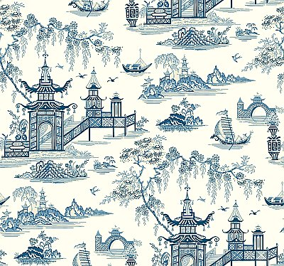 Peaceful Temple Removable Wallpaper