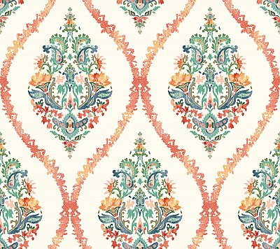 Garden Party Damask Wallpaper