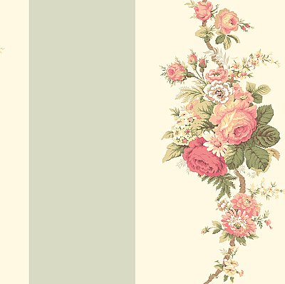 Norfolk Rose Wallpaper