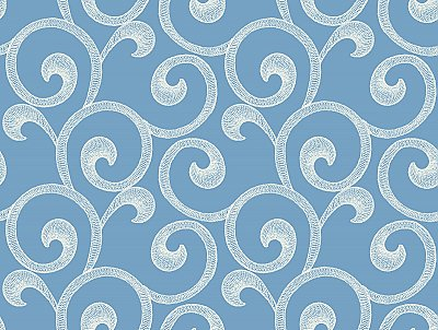 Hampton Scroll Removable Wallpaper