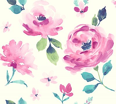Watercolor Blooms Wallpaper