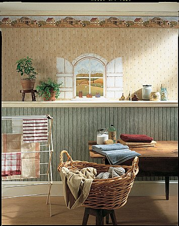 A Homestead Window Mural 252-59124 roomsetting
