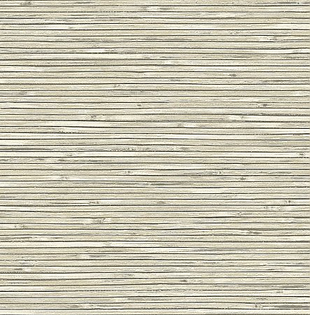 Bellport Ivory Wooden Slat Wallpaper