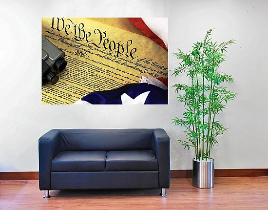 U.S. Constitution 2nd Amendment HUGE Peel & Stick CANVAS Poster