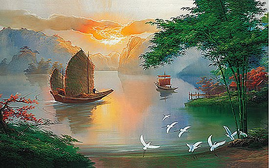 Sea Of Serenity Mural 1814 DS8014