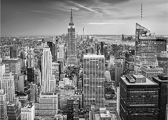 New York Skyline B&W