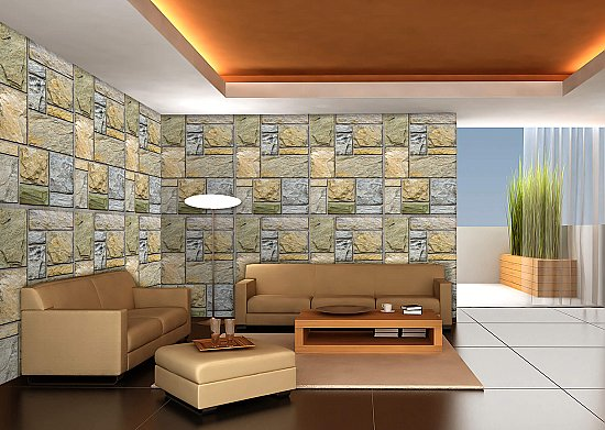 Colorful Mosaic Stone (Repeating Pattern)