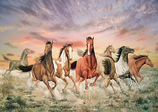 Galloping Horses Wall Mural