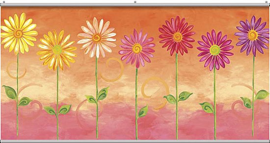 Big Daisies Minute Mural F0981MM