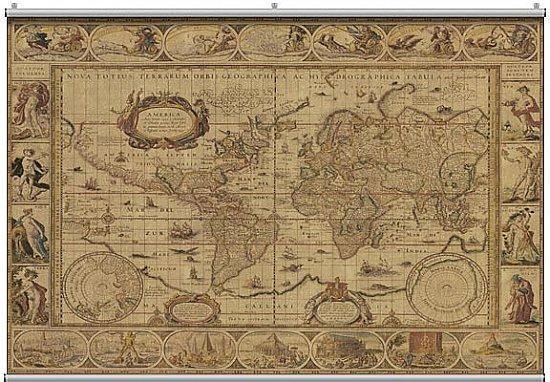 Antique Map 2 Minute Mural 121222