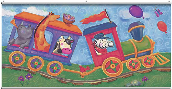 Animal Train  Minute Mural 121698