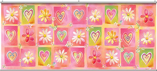 Hearts & Flowers Minute Mural 121704