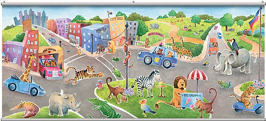 Safari Friends Minute Mural 121712